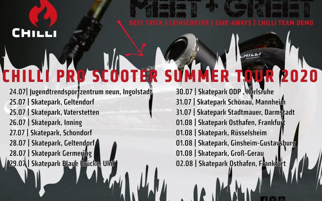 Chilli Süd-Deutschland Tour 24.07. – 02.08.2020